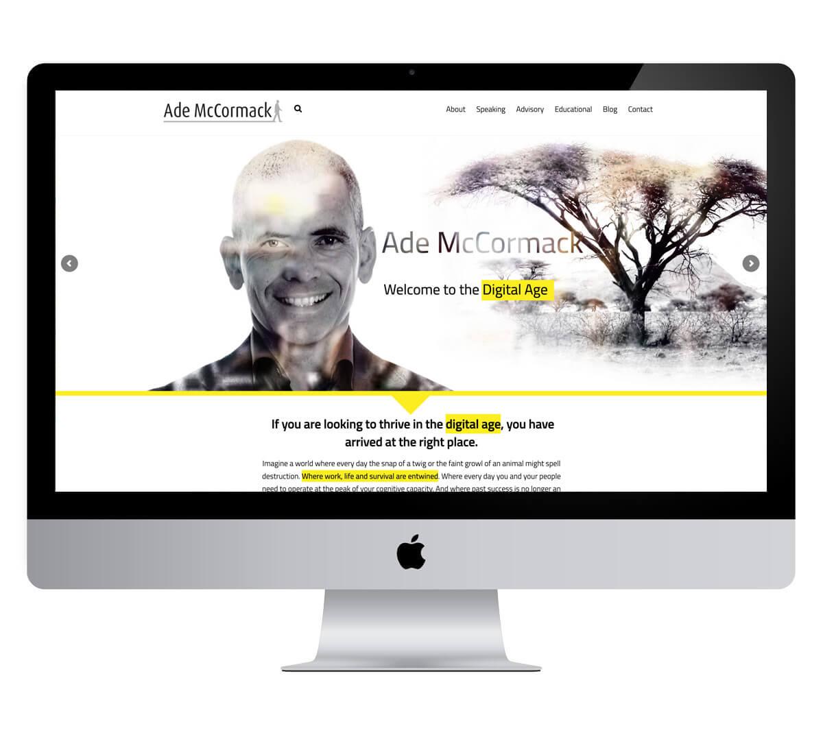 Ade McCormack Website
